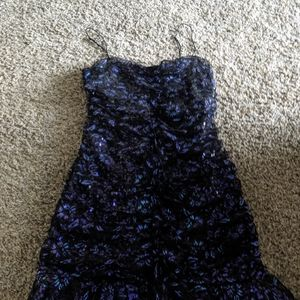 Sequin lace for love and lemons dress